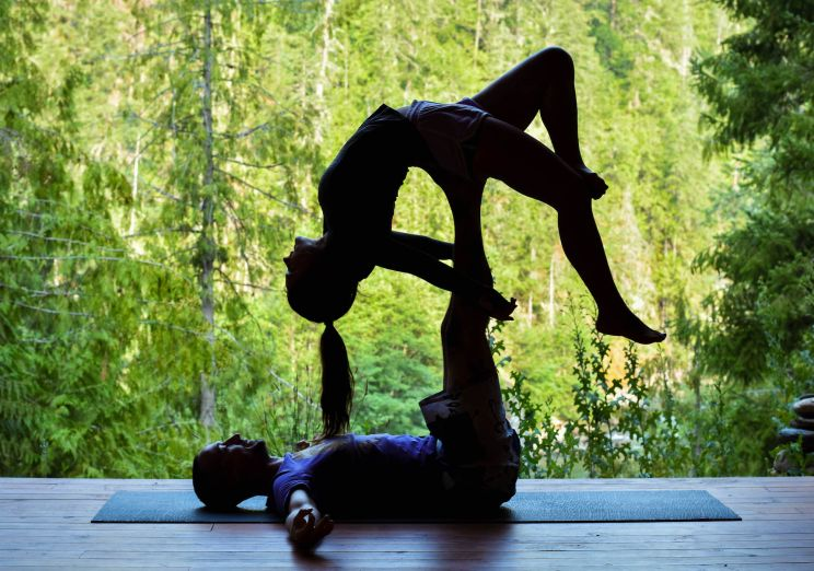 Acro Yoga at REO pavilion