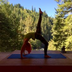 Nicole at REO Yoga Retreat